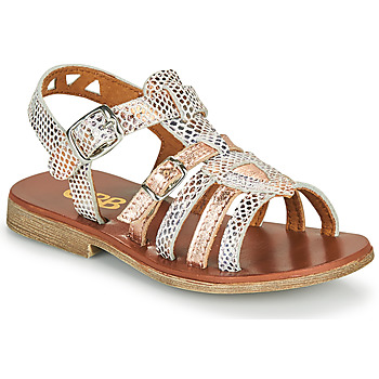 Zapatos Niña Sandalias GBB FANNI Blanco / Rosa / Gold