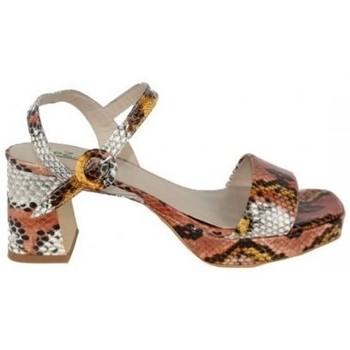 Zapatos Mujer Sandalias Ezzio SANDALIA PLATAFORMA  PIEL FANTASIA Multicolor