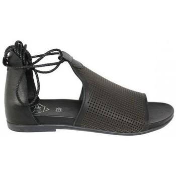 Zapatos Mujer Sandalias Top3 SANDALIA ABOTINADA CON PICADOS Negro