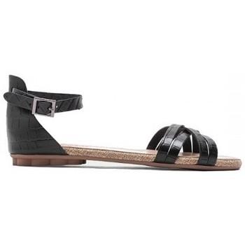 Zapatos Mujer Sandalias Porronet SANDALIA TIRAS CRUZADAS DE Negro