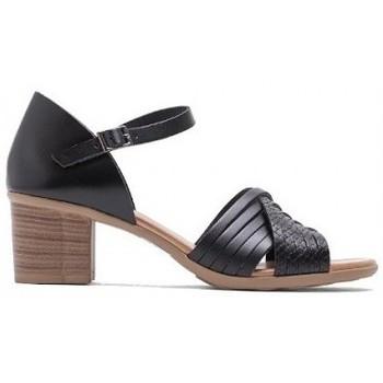 Zapatos Mujer Sandalias Porronet SANDALIA TIRAS CON TACON DE Negro