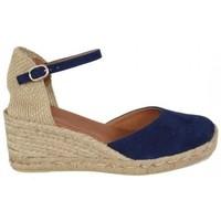 Zapatos Mujer Alpargatas Lolas VALENCIANA ANTE 5 CUERDAS Azul