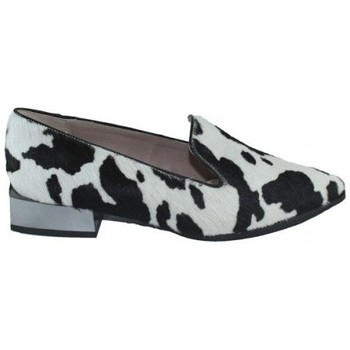 Zapatos Mujer Mocasín Lolas SLIPPER  PIEL PRINT MUCCA Negro