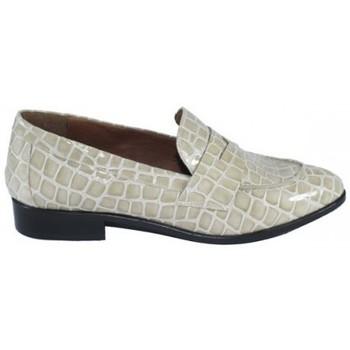 Zapatos Mujer Mocasín Lolas ZAPATO MOCASIN  PIEL GRABADA COCO Beige