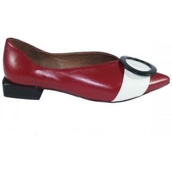 Zapatos Mujer Bailarinas-manoletinas Lolas ZAPATO SALON  CON HEBILLA COMBINADA Rojo
