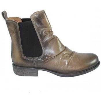Zapatos Mujer Botas de caña baja Lolas BOTIN CHELSEA CON ARRUGA Beige
