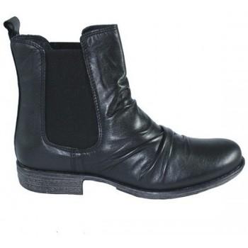 Zapatos Mujer Botas de caña baja Lolas BOTIN CHELSEA CON ARRUGA Negro