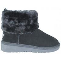 Zapatos Mujer Botas de nieve Top3 BOTIN CON CAÑA PELO DE Negro