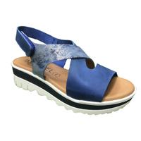Zapatos Mujer Sandalias Issa Miel ZAPATILLA CUÑA SPORT Azul