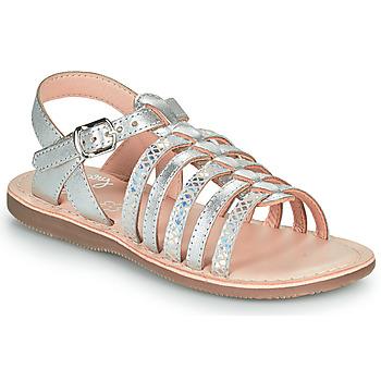 Zapatos Niña Sandalias Little Mary BARBADE Plata