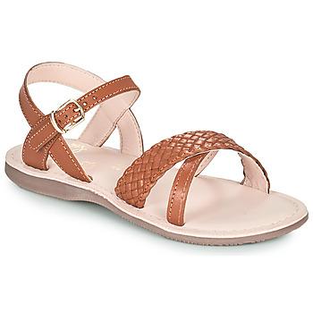 Zapatos Niña Sandalias Little Mary LIANE Marrón