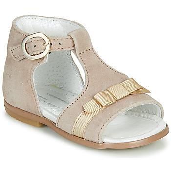 Zapatos Niña Sandalias Little Mary GAELLE Beige