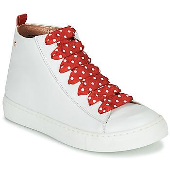 Zapatos Niña Zapatillas altas Little Mary SASHA (VE014) Blanco / Rojo