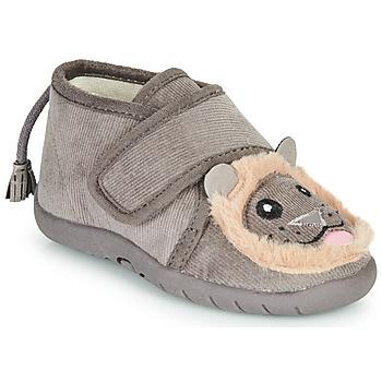 Zapatos Niños Pantuflas Little Mary LIONVELCRO Gris