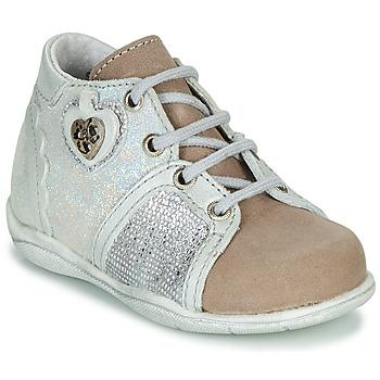 Zapatos Niña Botas de caña baja Little Mary VANILLE Plata / Topotea