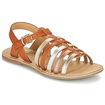 Zapatos Niña Sandalias Little Mary BARBADE Cognac / Rosa