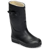 Zapatos Niños Botas de agua Aigle WOODY POP FUR Marino