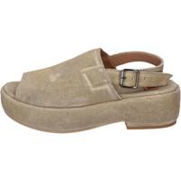 Zapatos Mujer Sandalias Moma sandalias gamuza oro