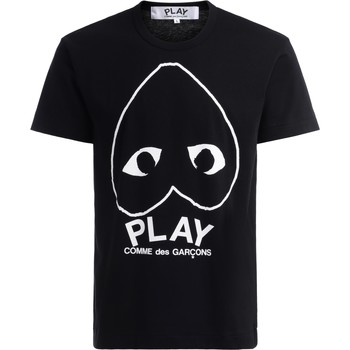 textil Hombre Camisetas manga corta Comme Des Garcons Camiseta  de algodón negro con Negro