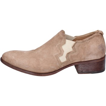 Zapatos Mujer Richelieu Moma botines gamuza beige