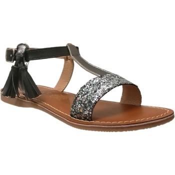 Zapatos Niña Sandalias L'atelier Tropezien Il112 Brillo negro