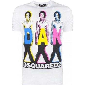 textil Hombre Camisetas manga corta Dsquared T-Shirts S74GD0498 - Hombres blanco