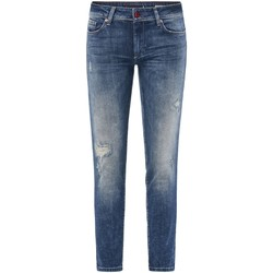 textil Mujer Vaqueros slim Salsa Jeans Push Up Wonder Capri à trous 123762 Azul