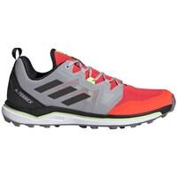 Zapatos Hombre Senderismo adidas Originals Terrex Agravic Rojos, Grises