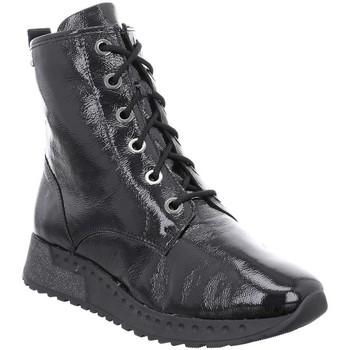 Zapatos Mujer Botines Romika Westland HOUSTON-12 CHAROL NEGRO NEGRO