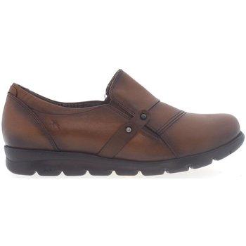 Zapatos Mujer Mocasín Fluchos Zapatos  F1079 Cuero Marrón
