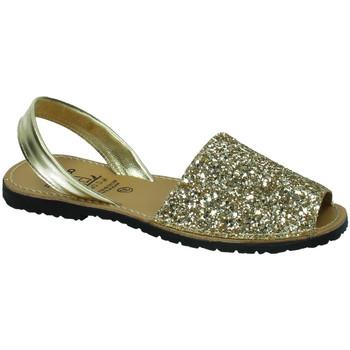 Zapatos Mujer Sandalias Avarca Cayetano Ortuño Menorquina purpurina CHAMPÁN