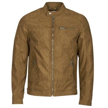 textil Hombre Chaquetas de cuero / Polipiel Jack & Jones JJEROCKY Cognac
