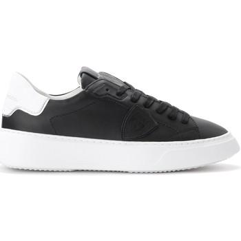 Zapatos Hombre Zapatillas bajas Philippe Model Zapatilla Temple de piel negra Negro