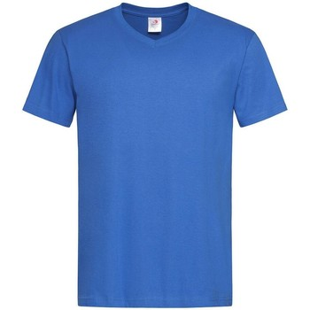 textil Hombre Camisetas manga corta Stedman  Azul eléctrico