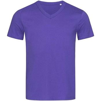 textil Hombre Camisetas manga corta Stedman Stars  Lila Profundo