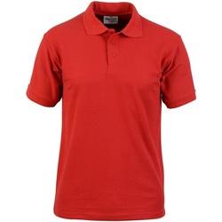 textil Hombre Polos manga corta Absolute Apparel  Rojo