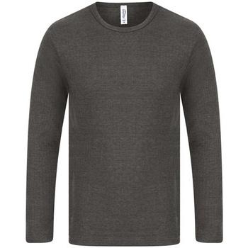 textil Hombre Camisetas manga larga Absolute Apparel  Carbón