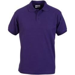 textil Hombre Polos manga corta Absolute Apparel  Púrpura