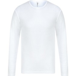 textil Hombre Camisetas manga larga Absolute Apparel  Blanco
