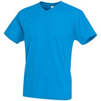 textil Hombre Camisetas manga corta Stedman  Azul Océano