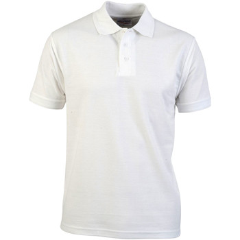 textil Hombre Polos manga corta Absolute Apparel  Blanco