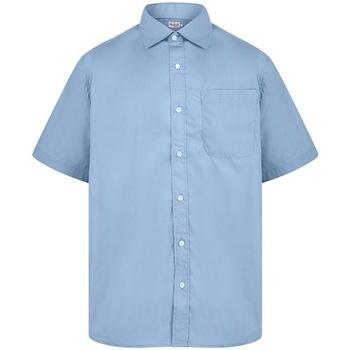 textil Hombre Camisas manga corta Absolute Apparel  Azul claro