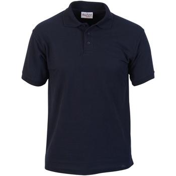 textil Hombre Polos manga corta Absolute Apparel  Azul marino