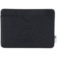 Bolsos Cartera Herschel Charlie + Tile Black Pebbled Leather