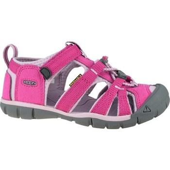Zapatos Niños Sandalias de deporte Keen Seacamp II Cnx JR Grises, Rosa
