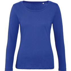 textil Mujer Camisetas manga larga B And C TW071 Azul Cobalto