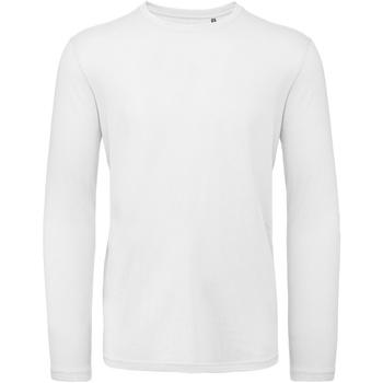 textil Hombre Camisetas manga larga B And C TM070 Blanco