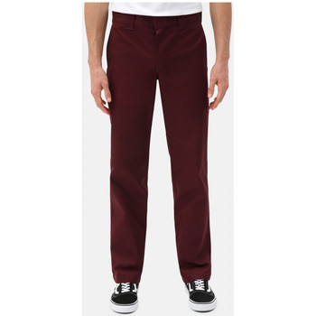 textil Hombre Pantalones chinos Dickies S/stght work pant Burdeo