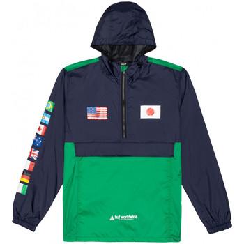 textil Hombre Cortaviento Huf Jacket flags anorak Azul