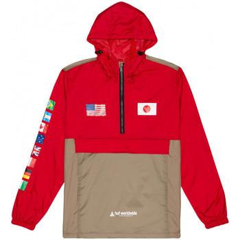 textil Hombre Cortaviento Huf Jacket flags anorak Rojo